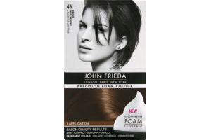 John Frieda Precision Foam Colour Brilliant Brunette 4N Dark Natural Brown Permanent Colour