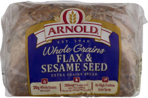 Arnold Whole Grains Flax & Sesame Seed Bread