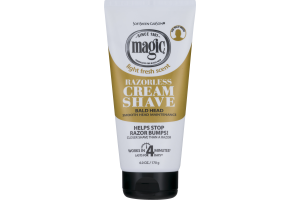 Magic Razorless Cream Shave Bald Head Light Fresh Scent