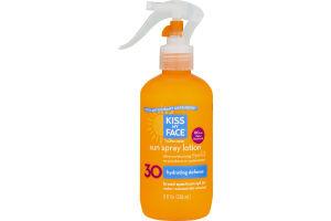 Kiss My Face Sunscreen Sun Spray Lotion Hydrating Defense 30