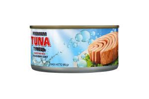 Тунець шматочками у власному соку Polar Seafood з/б 185г