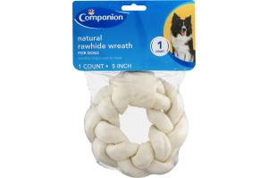 Companion Natural Rawhide Wreath 5 Inch