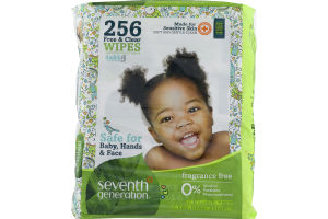 Seventh Generation Free & Clear Wipes - 256 CT
