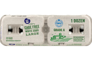 Ahold Cage Free White Eggs Large Grade A - 12 CT