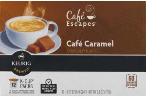 Cafe Escapes Cafe Caramel K-Cup Packs - 12 PK