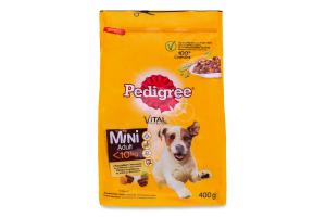 Корм для собак Pedigree Mini с птицей и овощами