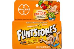 Bayer Flintstones Children's Multivitamin with Extra C Chewable Tablets - 60 CT