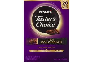 Nescafe Taster's Choice Instant Coffee 100% Colombian Medium Roast - 20 CT