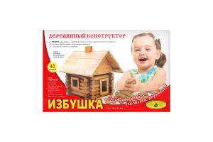 Конструктор Хатинка дерево 68деталей Київська фабрика іграшок