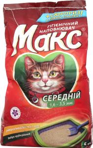 Наповнювач гігієнічний середній для котів Макс 5кг