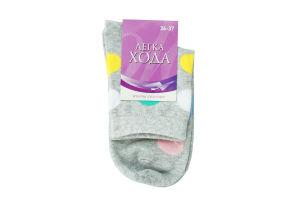 Шкарпетки жіночі Легка Хода №5381 23 срібло меланж