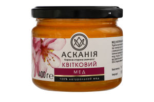 Мед натуральный цветочный Асканія с/б 400г