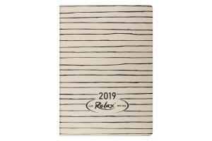 Ежедневник дат. 2019 RELAX, A6, 336 стр., золото
