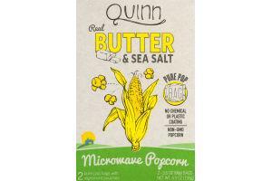 Quinn Real Butter & Sea Salt Microwave Popcorn - 2 CT
