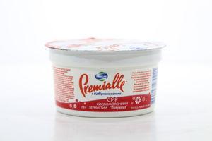 Творог Cottage cheese кисломол зернистый клубника 7% MilkLife Premialle 150г