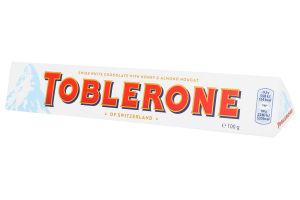 Шоколад білий з медово-мигдального нугою Toblerone к/у 100г