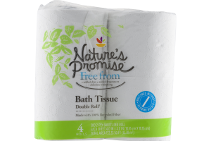 Nature's Promise Bath Tissues Double Rolls - 4 CT