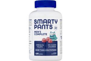 SmartyPants Men's Complete Multivitamin Gummies - 120 CT