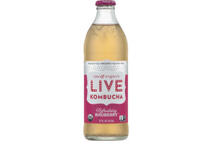LIVE Kombucha Raw & Organic Refreshing Rhuberry