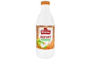 Йогурт 0.8% Злаки-яблуко Ферма п/пл 900г