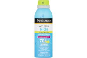 Neutrogena Wet Skin Kids Beach & Pool Sunscreen Spray SPF 70+