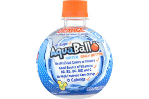 AquaBall Flavored Water Drink Orange