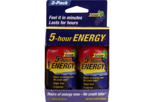 5-Hour Energy Drink Dietary Supplement Grape - 2 CT