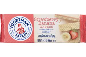 Voortman Bakery Wafers Strawberry Banana