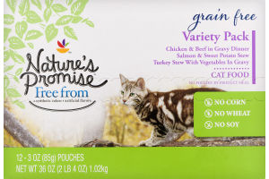 Nature's Promise Grain Free Cat Food Variety Pack - 12 PK