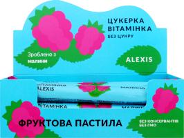Пастила фруктовая малина Конфета витаминка Alexis м/у 17г