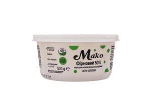 Маргарин 50% мягкий Фирменный Мако п/у 500г