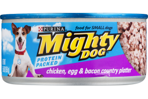 Purina Mighty Dog Chicken, Egg & Bacon Country Platter Dog Food