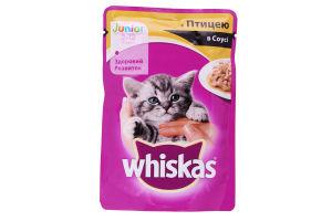 Корм для котят с птицей в соусе Junior Whiskas д/п 100г