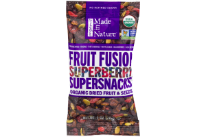 Made In Nature Fruit Fusion Superberry Supersnacks Organic Dried Fruit & Seeds