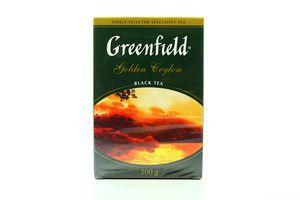 Чай черный листовой Golden Ceylon Greenfield к/у 200г