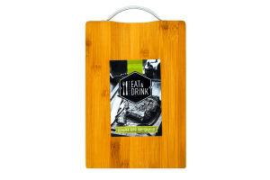 Доска разделочная Eat&Drink бамбук 29,5*19,5*1,7