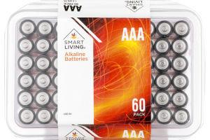 Smart Living Alkaline Batteries AAA - 60 PK