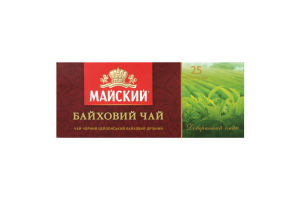Чай черный Байховый Майский к/у 25х1.5г