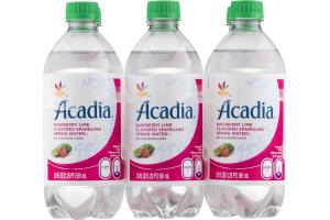 Acadia Sparkling Spring Water Raspberry Lime - 6 PK