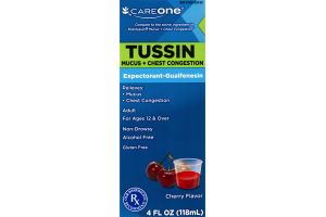CareOne Tussin Mucus + Chest Congestion Cherry