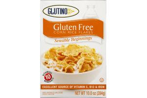 Glutino Gluten Free Sensible Beginnings Corn Rice Flakes
