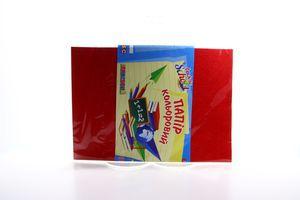 Бумага цветная глянцевая А4 №950255 1 Вересня 12шт