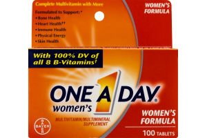 One A Day Women's Multivitamin/Multimineral Supplement Women's Formula Tablets - 100 CT