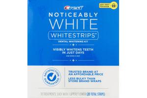Crest Whitestrips Noticeably White Dental Whitening Kit – 10 CT