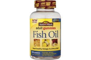Nature Made Adult Gummies Fish Oil Orange, Lemon & Strawberry Banana - 90 CT