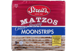 Streit's Matzos Moonstrips Onion Poppy