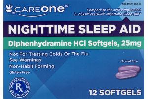 CareOne Nighttime Sleep Aid - 12 CT