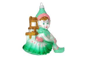 Новорічна прикраса підвіс Ельф 13см пластик