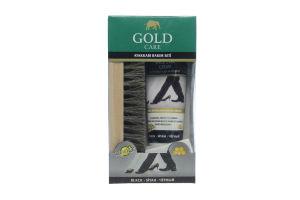 Набор для ухода за обувью GoldCare (1шт крем черный ТУБА+1шт щетка)1006