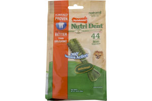Nylabone Nutri Dent Dental Chews Dog Treats Mini - 44 CT